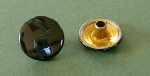 Black Enamel Buttons